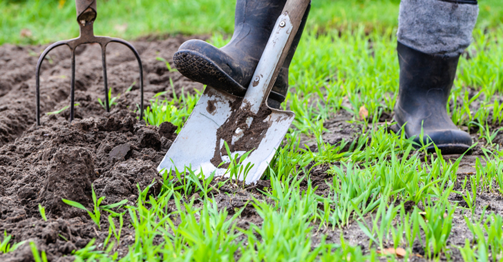 畑の土を柔らかくする