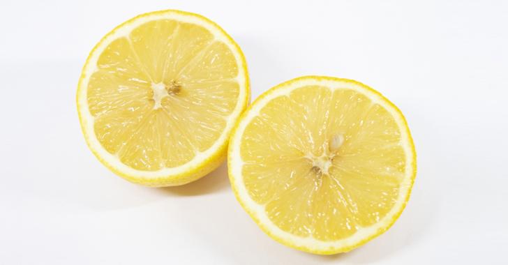 切ったレモン