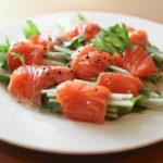 水菜のサーモンサラダ